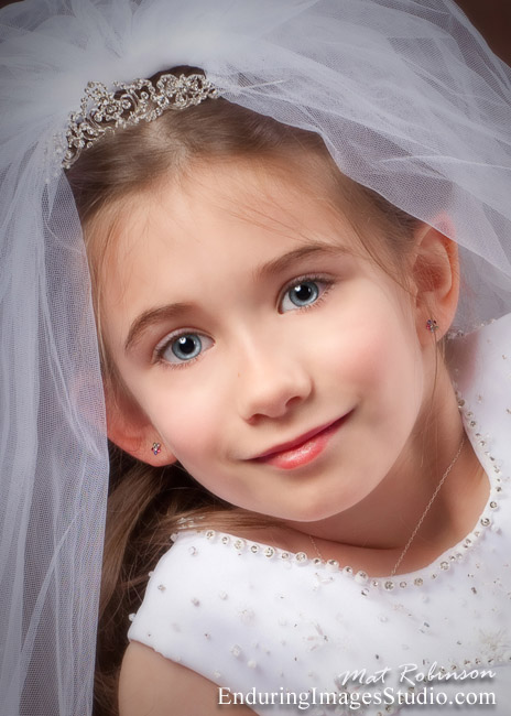 Communion portraits taken on location or in our Denville  studio.
