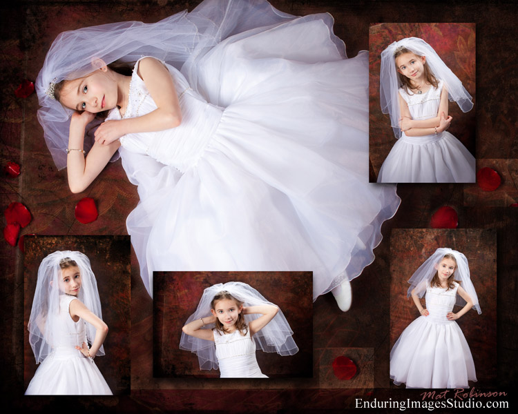 Beautiful communion collage created by portrait photographer, Mat Robinson of Denville, NJ  Rockaway