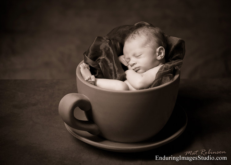 Black and white newborn portraits denvillemorris county